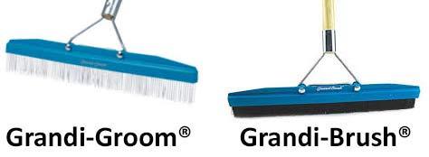 Grandi Groom Carpet Rake Removes footprints from velvet, plush cut-pile carpet