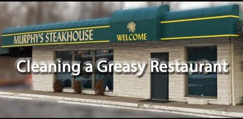 Cleaning a greasy steakhouse restaurant carpet