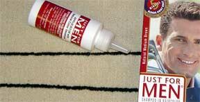 Hair dye stain on carpet