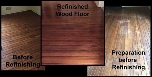 Wood refinishing job