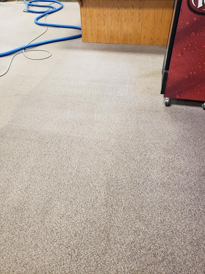 Image of Stained School Carpet AFTER Kennays Carpet Care Cleaned It