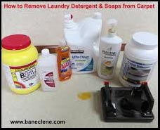 How to clean up a laundry detergent spill