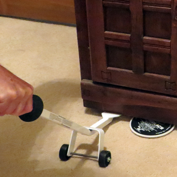 Bane-Glides make moving furniture when cleaning carpet easier.