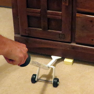 Use foam blocks to prevent furniture stains