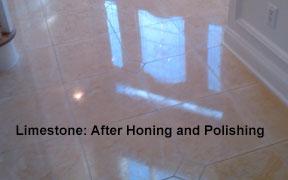 Limestone after polishing