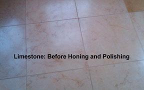 Limestone before honing