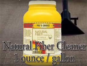 Designed to safely and thoroughly clean those difficult to clean natural textiles,