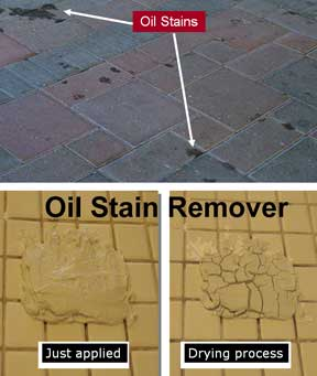 Oil Stain Remover removes oils from stone