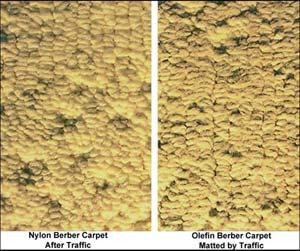 Berber matting - nylon versus olefin