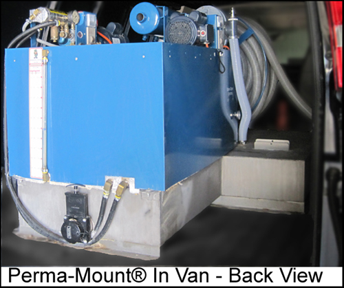 Perma-Mount in carpet cleaning van