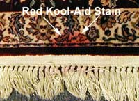 Remove Kool-Aid from Wool Rugs with Red Relief for Wool