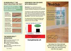 Wood-Solv Tri-Fold Brochure