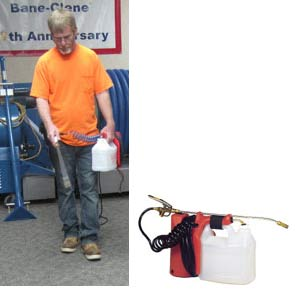Spray 1 electric sprayer for carpet deodorizers, protectors and presprays