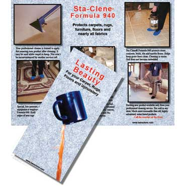 Sta-Clene® Lasting Beauty Brochure for Carpets, Rugs, Upholstery, Tile & Grout Protector