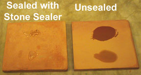 Stone Tech Stone Sealer Protects Mexican and Saltillo Tile from Stains