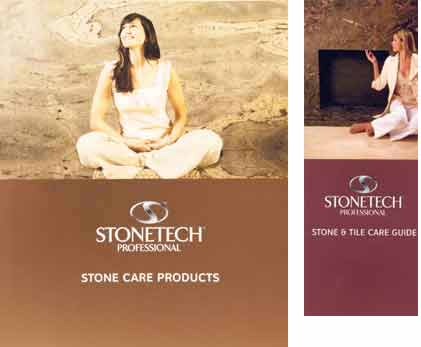 Stone Care Guide Tri-fold Self-Mailer and Large Brochure