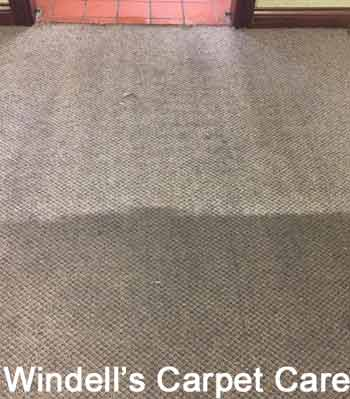 """The two """"before/after"""" photos of carpets cleaned using Bane-Clene ® truckmounted carpet cleaning equipment and cleaning compounds are from Veterans Carpet ..."""