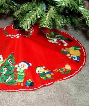 Christmas Tree Skirt Stain