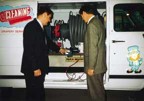 Electric Winch System on the Para-Mount truckmounted carpet cleaning machine