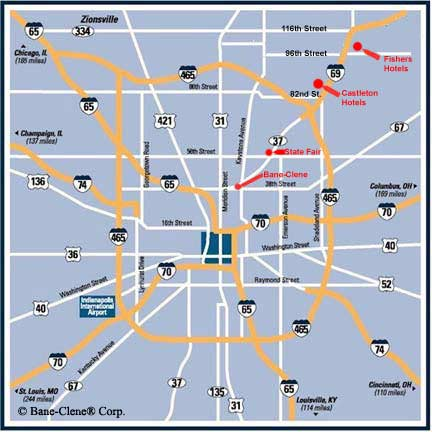 Map of Bane-Clene in Indianapolis