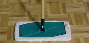 Wood Floors Mop for Consumers is specially designed for use with the Wood Floor Cleaner.